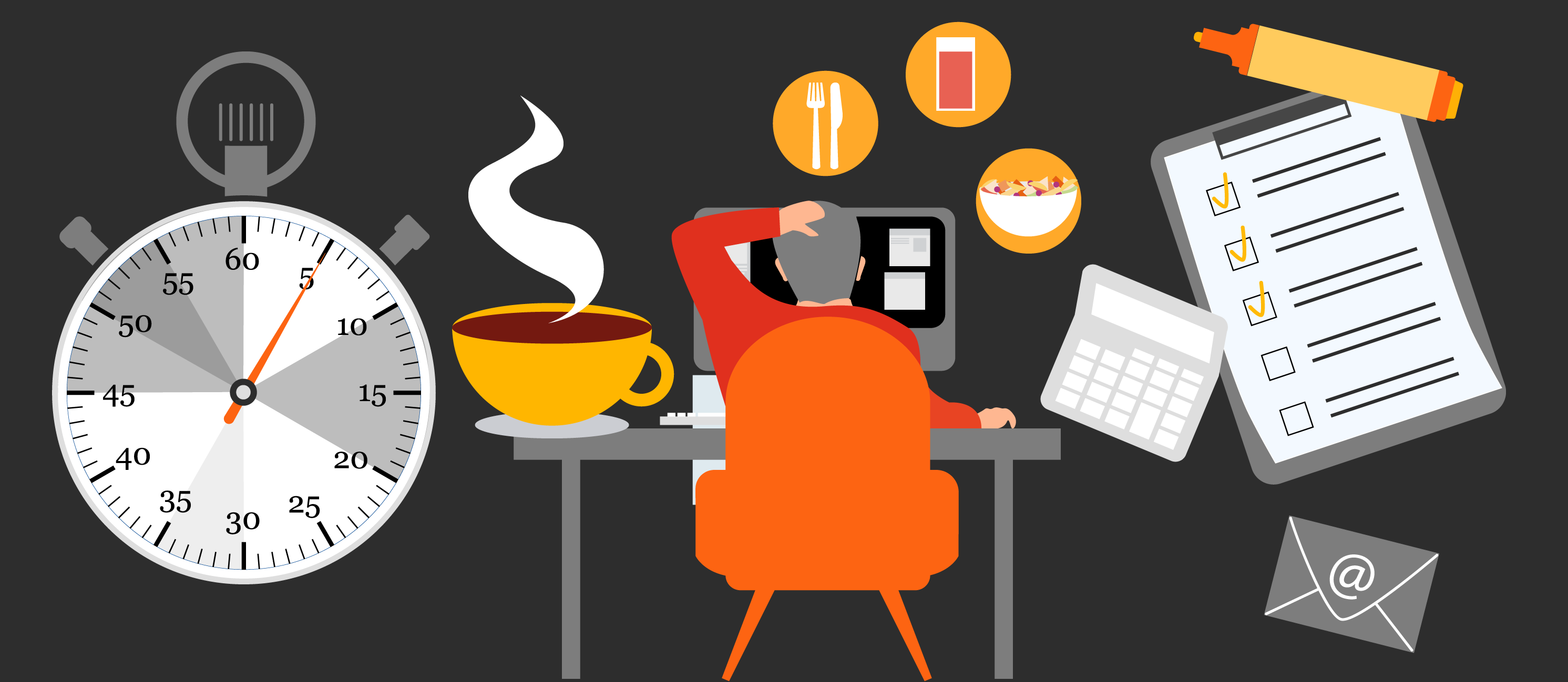 Redesign your morning routine. Don't forget breakfast and your usual caffeine.