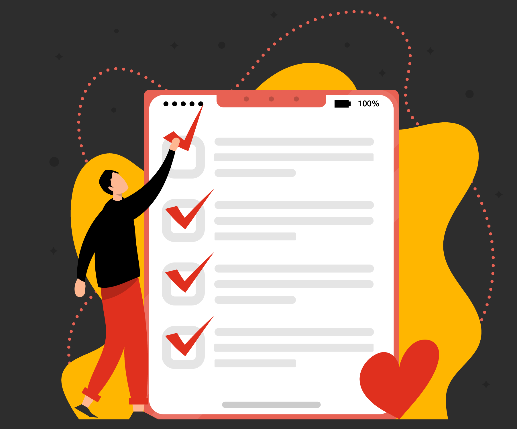 Keep a loving relationship with your to-do list